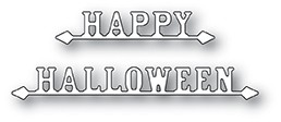 Poppystamps Happy Halloween Signs craft die 1950