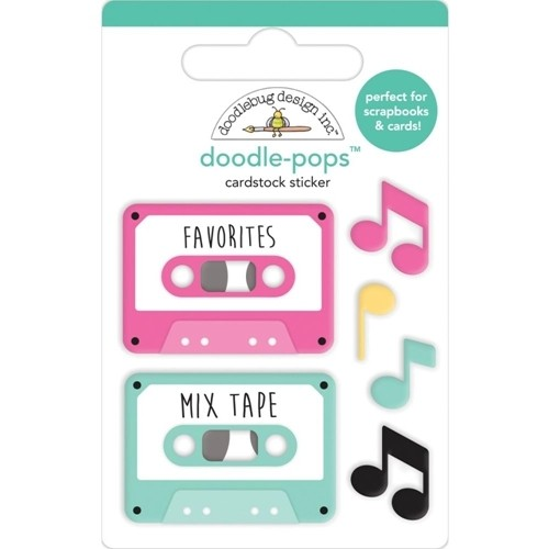 Doodlebug Doodle Pops 3D Stickers Love Notes OUR SONG 6580