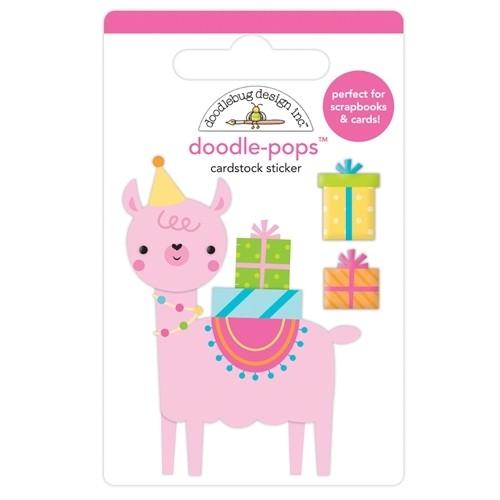 Doodlebug Doodle-Pops 3D Stickers Party Llama