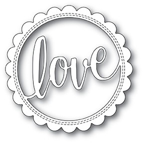 Love Stitch Circle Frame die 2001