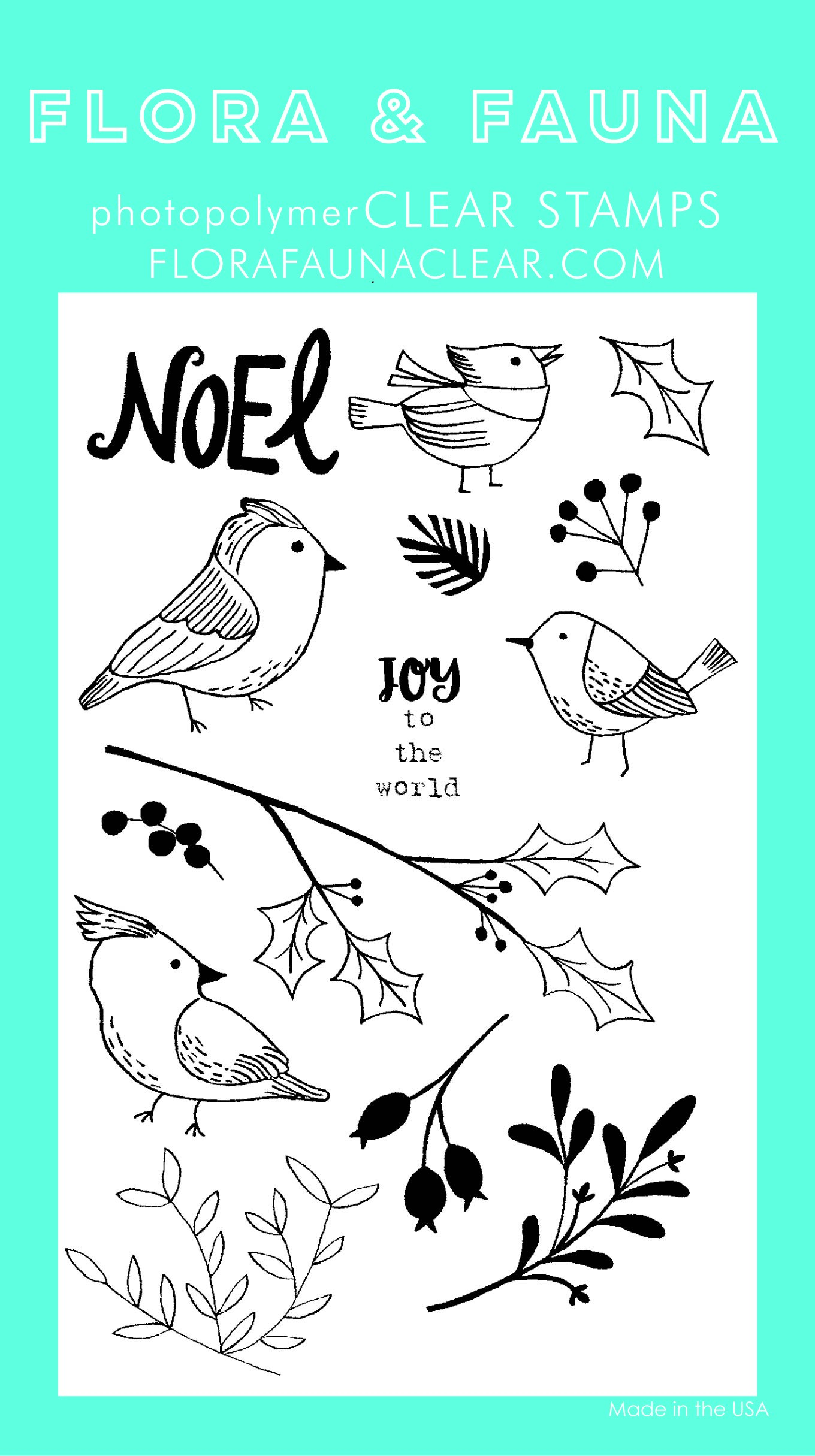Flora & Fauna Winter Aviary Clear Stamp Set