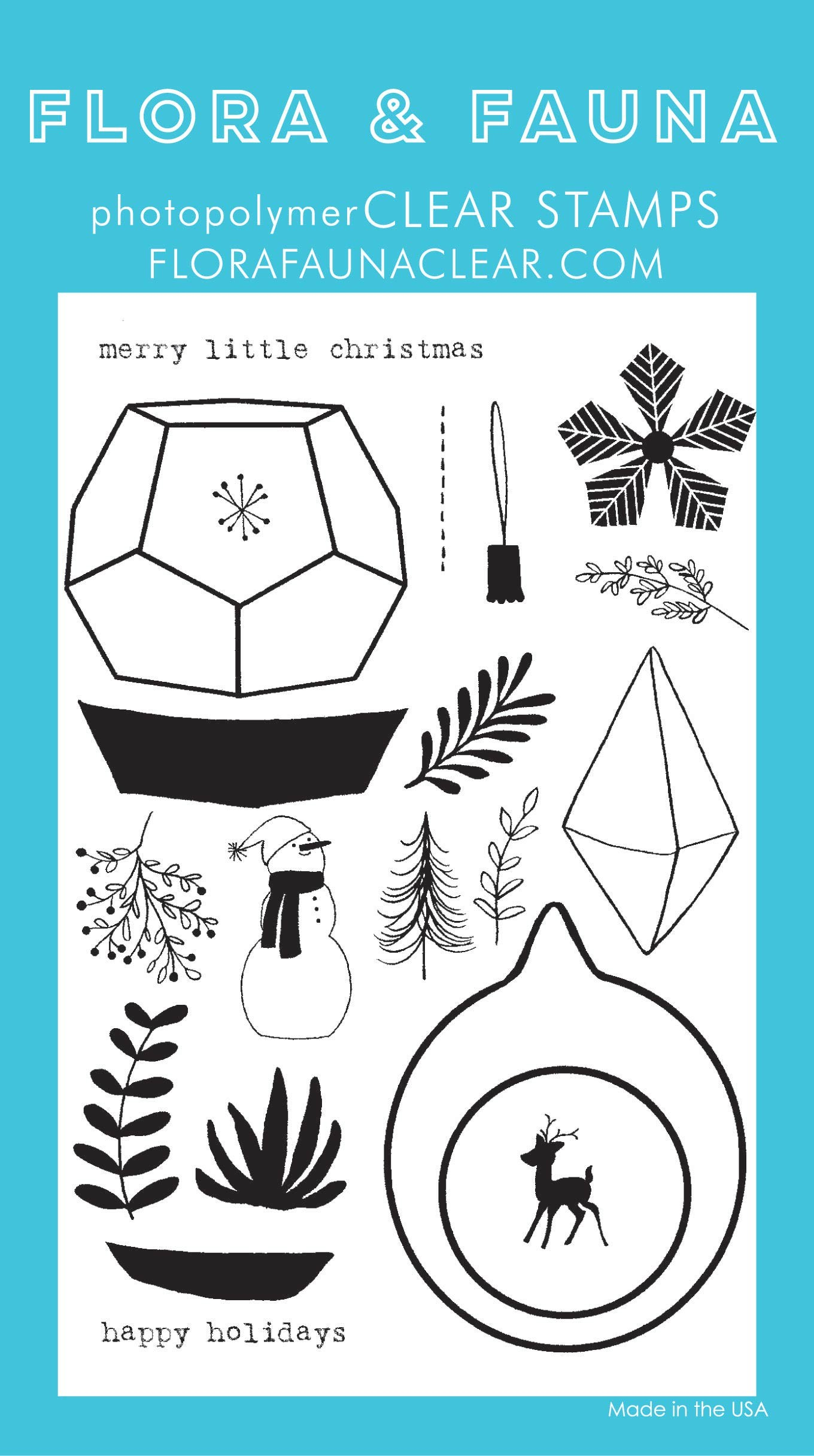 Flora & Fauna Holiday Terrarium Clear Stamp Set