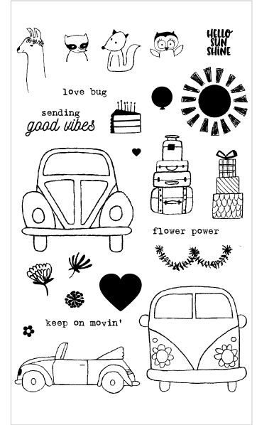 Flora & Fauna Love Bug Clear Stamp Set