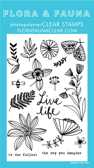 Flora and Fauna Live Life Wildflower Clear Stamp Set 20167