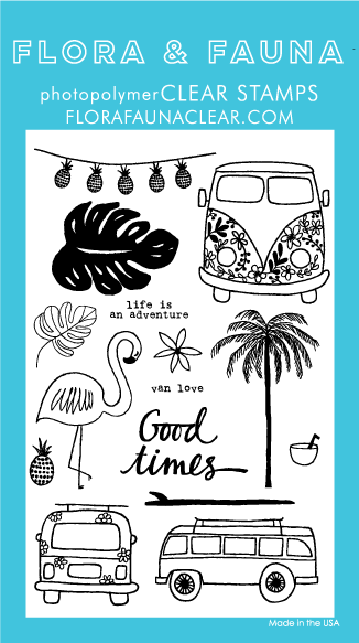 Flora and Fauna Good Times Van Stamp Set 20169
