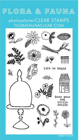 Flora and Fauna Terrarium Bird Stamp Set 20177