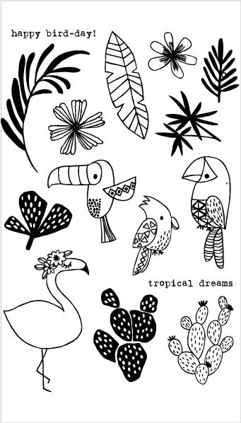 Flora and Fauna Tropical Vibes Set 20178