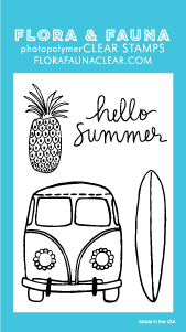 Flora and Fauna Mini Van Vibes Clear Stamp Set