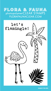 Flora and Fauna Mini Flamingle Clear Stamp Set