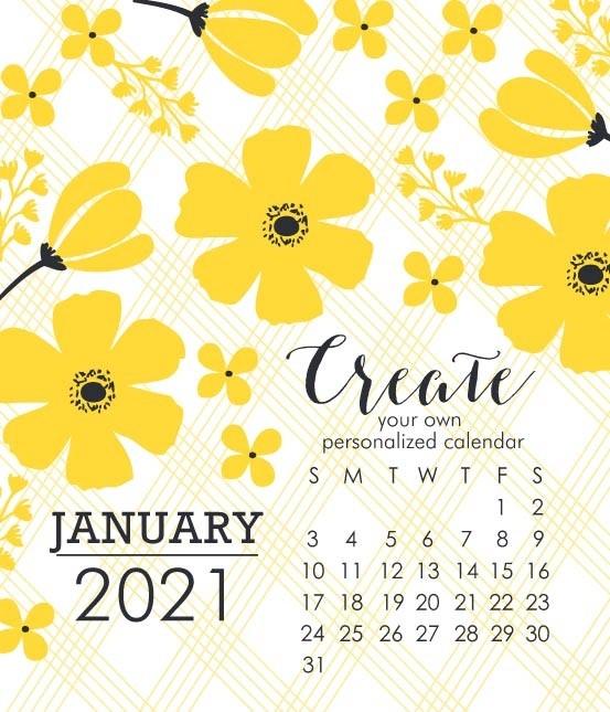 Impress Large 2021 DIY Calendar Refill