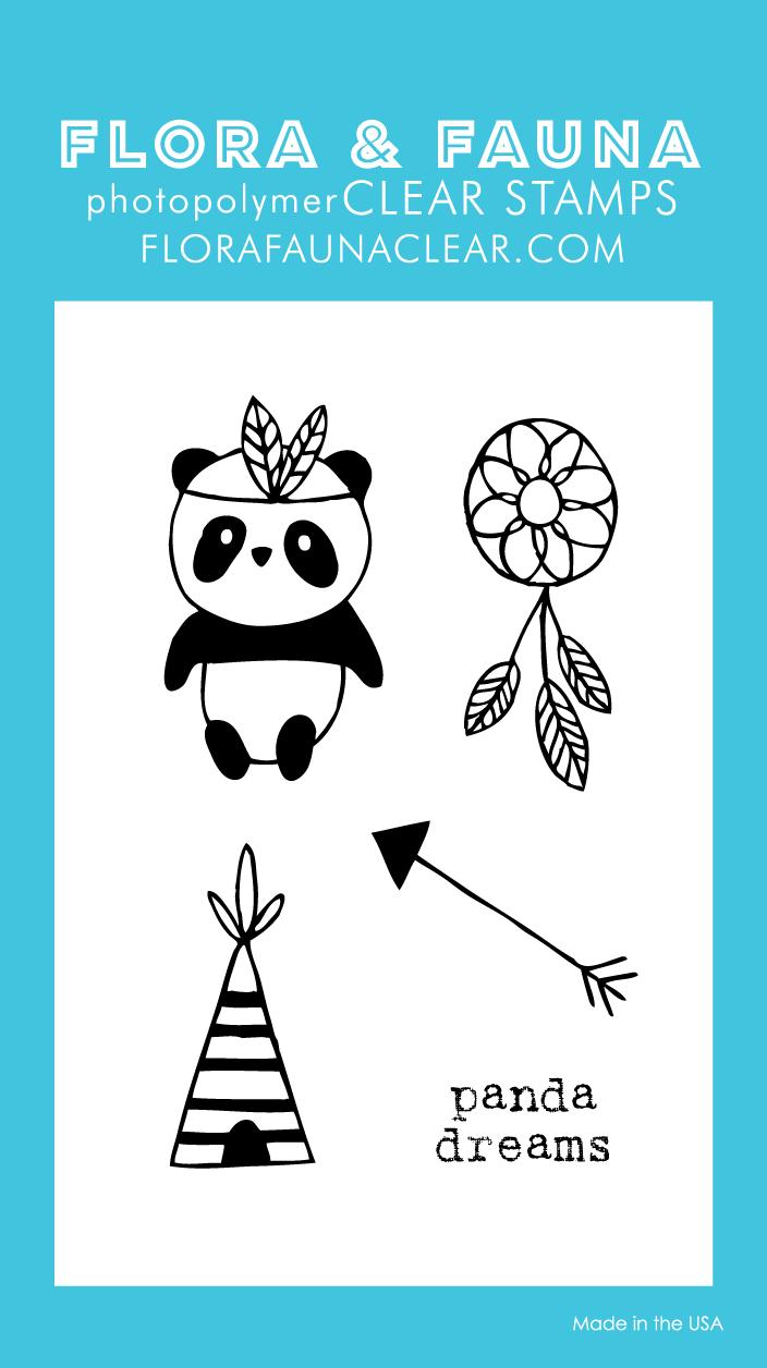 Flora and Fauna Mini Panda Teepee Clear Set 20220