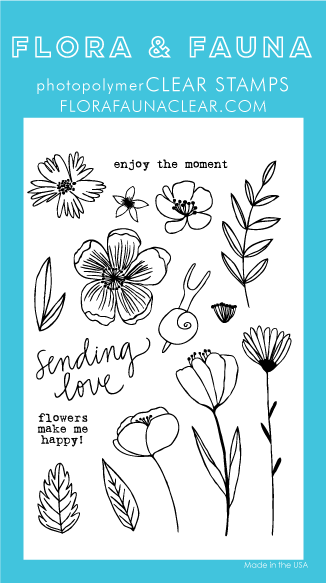 Flora and Fauna Summer Snail Clear Stamp Set
