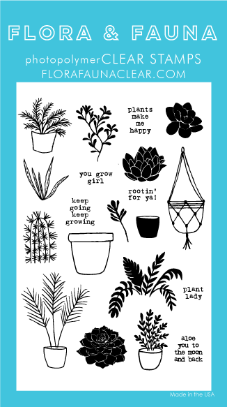 Flora and Fauna Plant Lady Clear Stamp Set