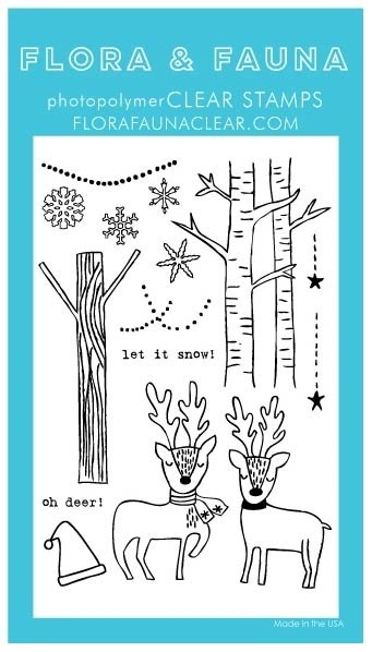 Flora and Fauna Outline Deer Wonderland Set 20338