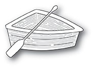 Poppy Stamps Wooden Rowboat 2036