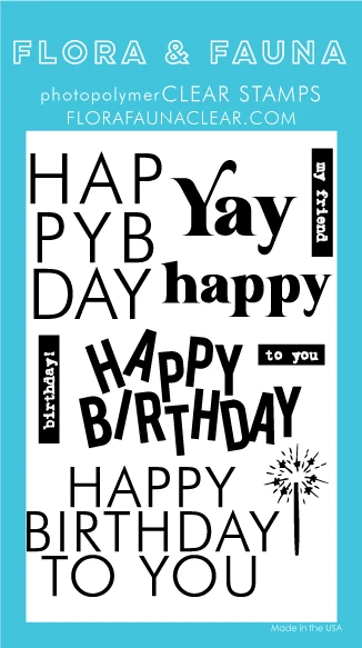 Flora and Fauna Stacked Birthday Word 20362