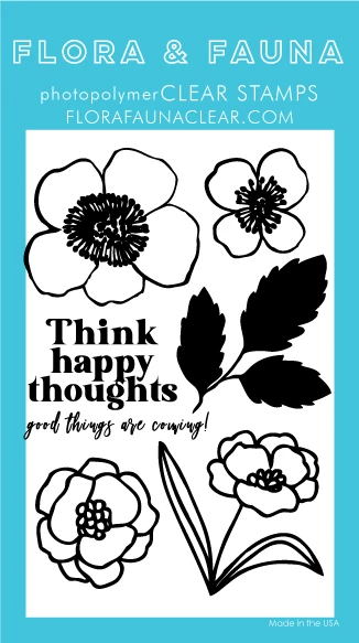Flora and Fauna Think Happy Thoughts Flower Set 20364