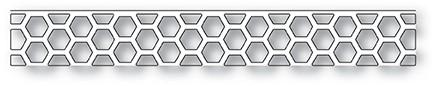 Poppy Stamps Little Hexagon Border Layer 2039