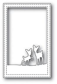 Poppy Stamps Playful Deer Stitched Frame Die 2077