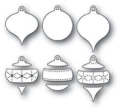 Poppy Stamps Pinpoint Ornament Set 2079
