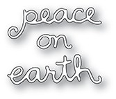 Poppy Stamps Peace On Earth Doodle Script Die 2089