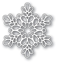 Poppy Stamps Seed Snowflake Outline Die 2097