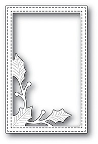 Poppy Stamps Simple Holly Vine Frame 2103