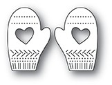 Poppy Stamps Pinpoint Heart Mittens Die 2105