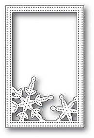 Poppy Stamps Simple Pinpoint Snowflake Frame Die 2106