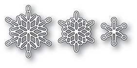Poppy Stamps Linked Snowflake Trio 2107