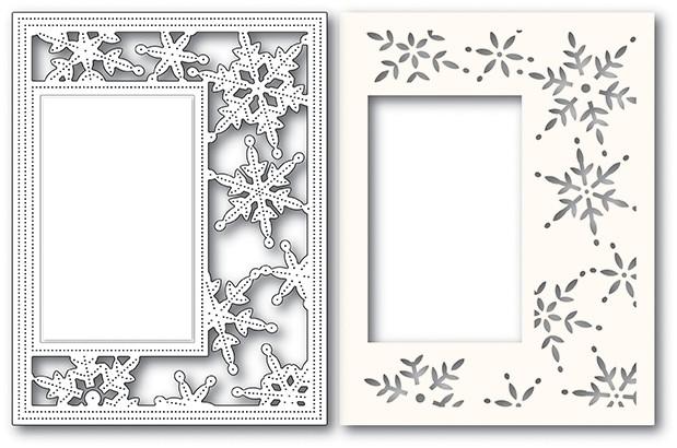 Poppy Stamps Pinpoint Snowflake Sidekick Frame 2110