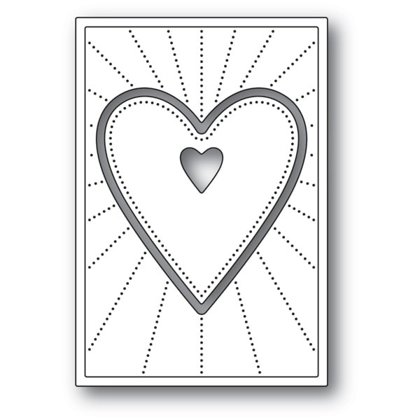 Poppy Stamps Deco Shining Heart 2154