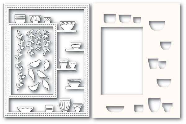 Poppy Stamps Greenhouse Potted Plants Sidekick Frame and Stencil