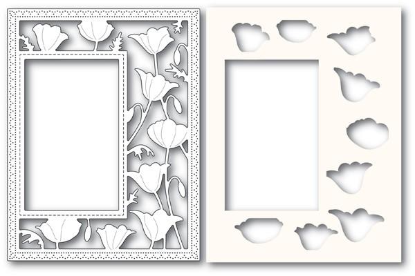 Poppy Stamps Garden Poppy Sidekick Frame and Stencil 2179