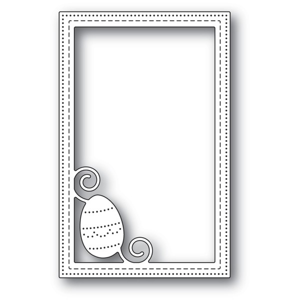 Poppy Stamps Decorated Egg Stitched Frame 2181