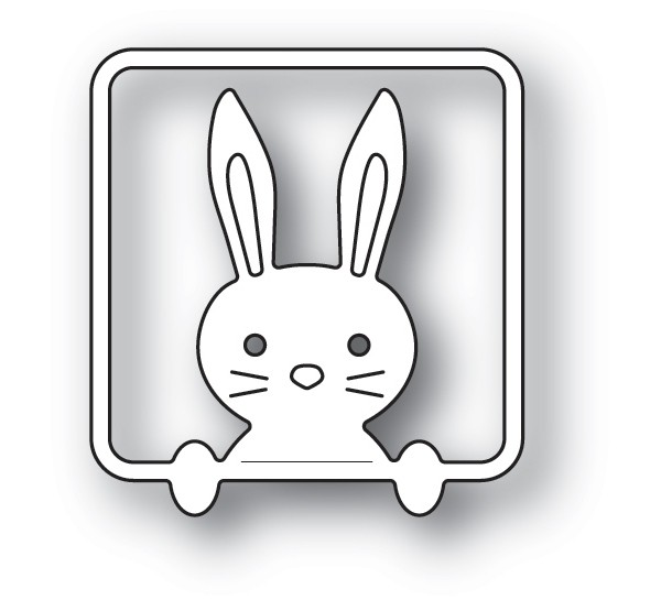 Poppy Stamps Peek a Boo Bunny 2191