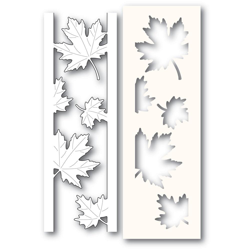 Poppystamps Maple Leaf Side Strips and Stencil craft die 2236
