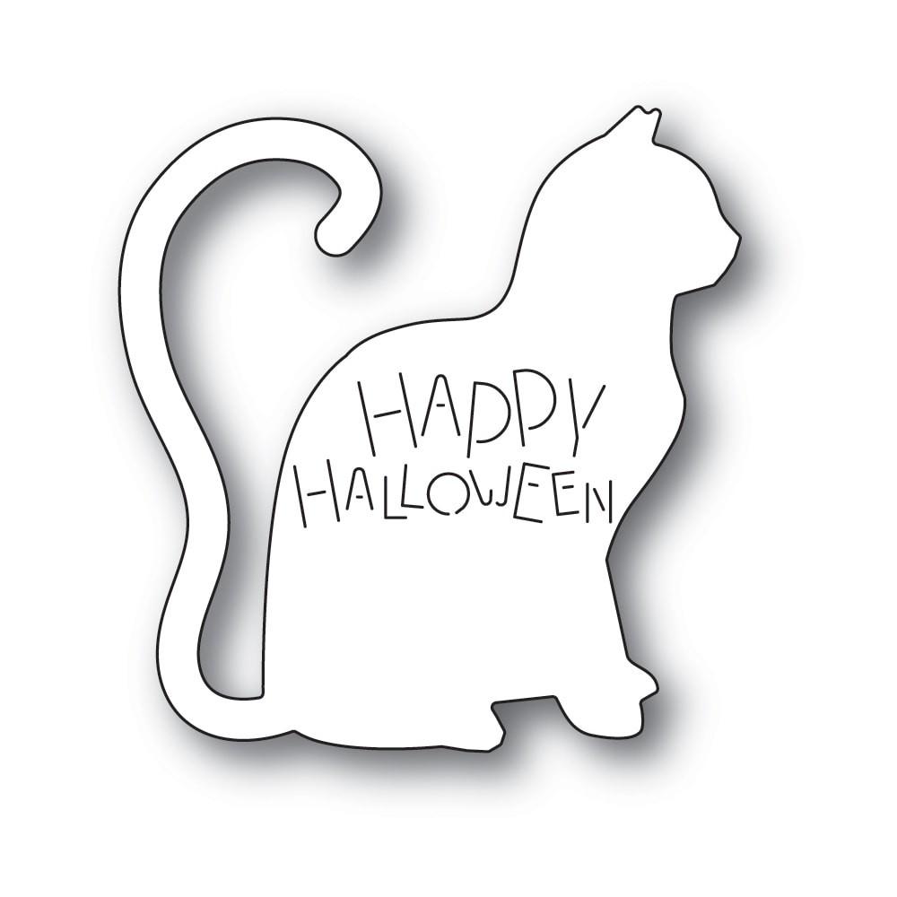 Poppystamps Happy Halloween Cat 2237