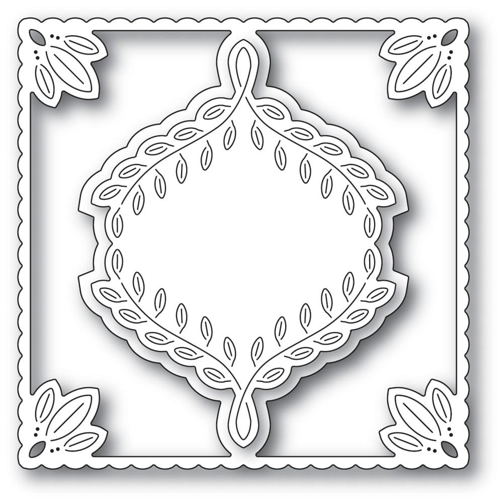 Poppystamps Leafy Ornament Frame 2253