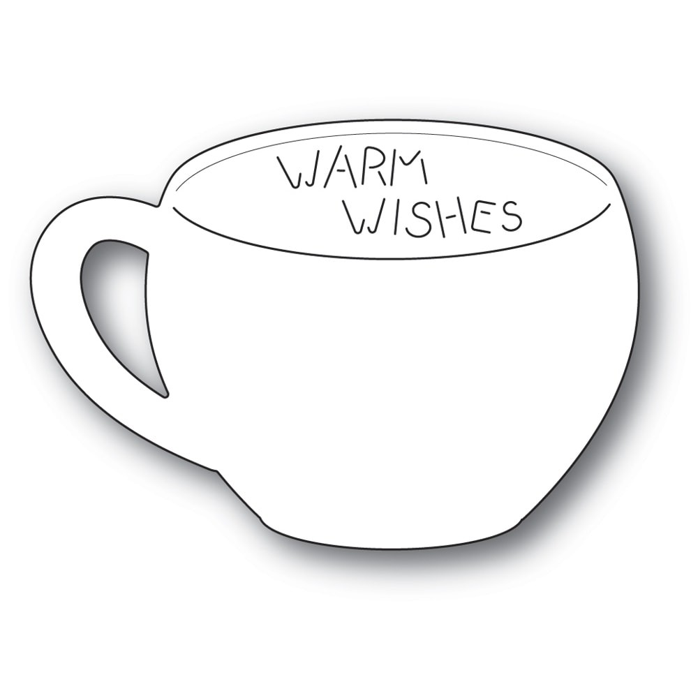 Poppystamps Warm Wishes Gift Card Cup 2254