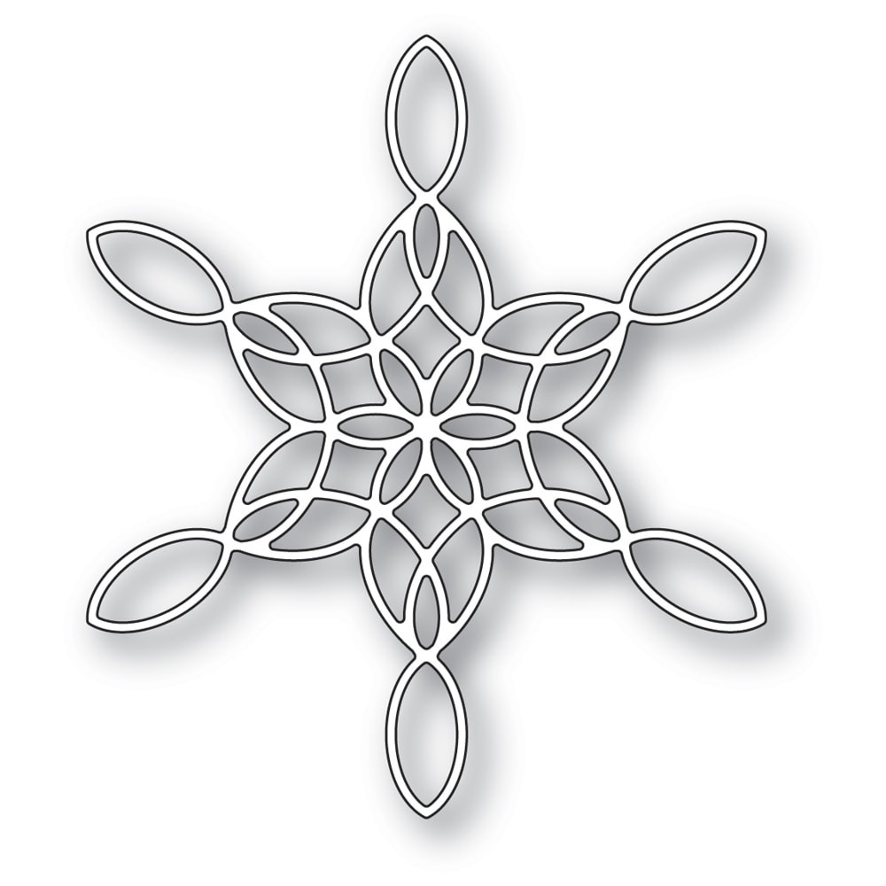 Poppystamps Stained Glass Snowflake 2271