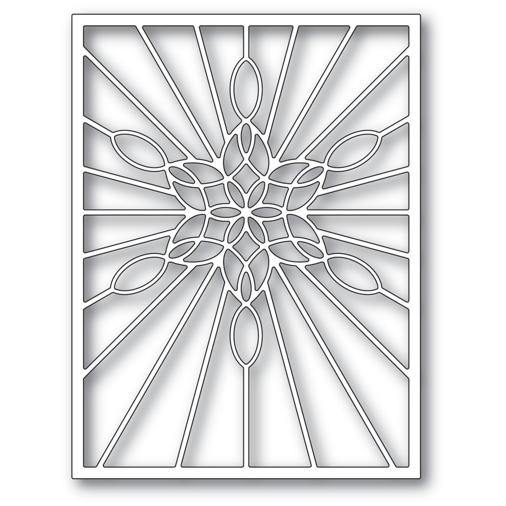 Poppystamps  Stained Glass Snowflake Window 2273