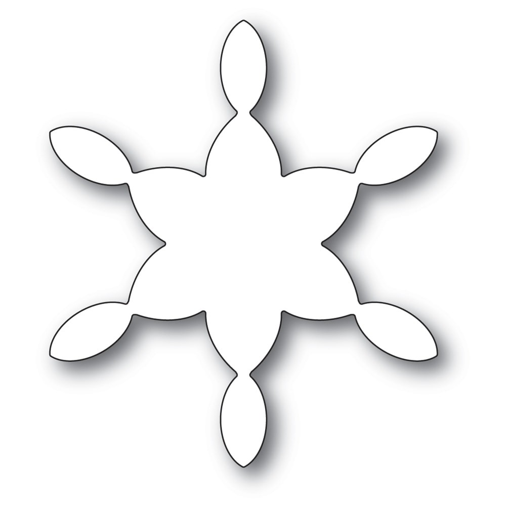 Poppystamps Stained Glass Snowflake Background 2276