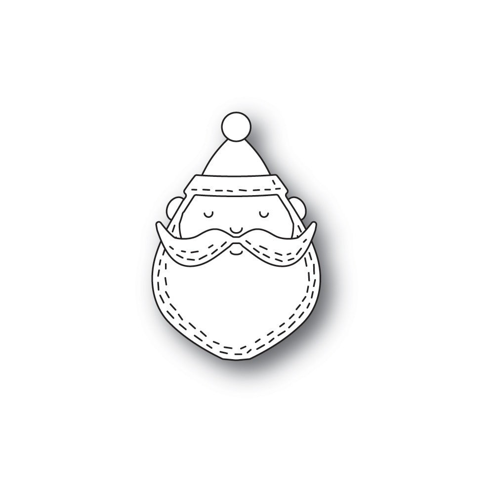 Poppystamps Whittle Santa Face 2279