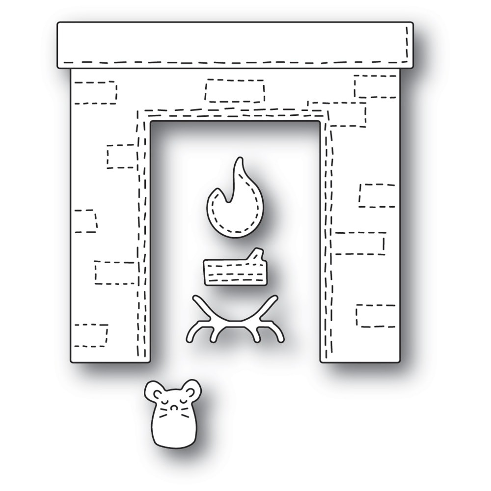 Poppystamps Whittle Fireplace 2280