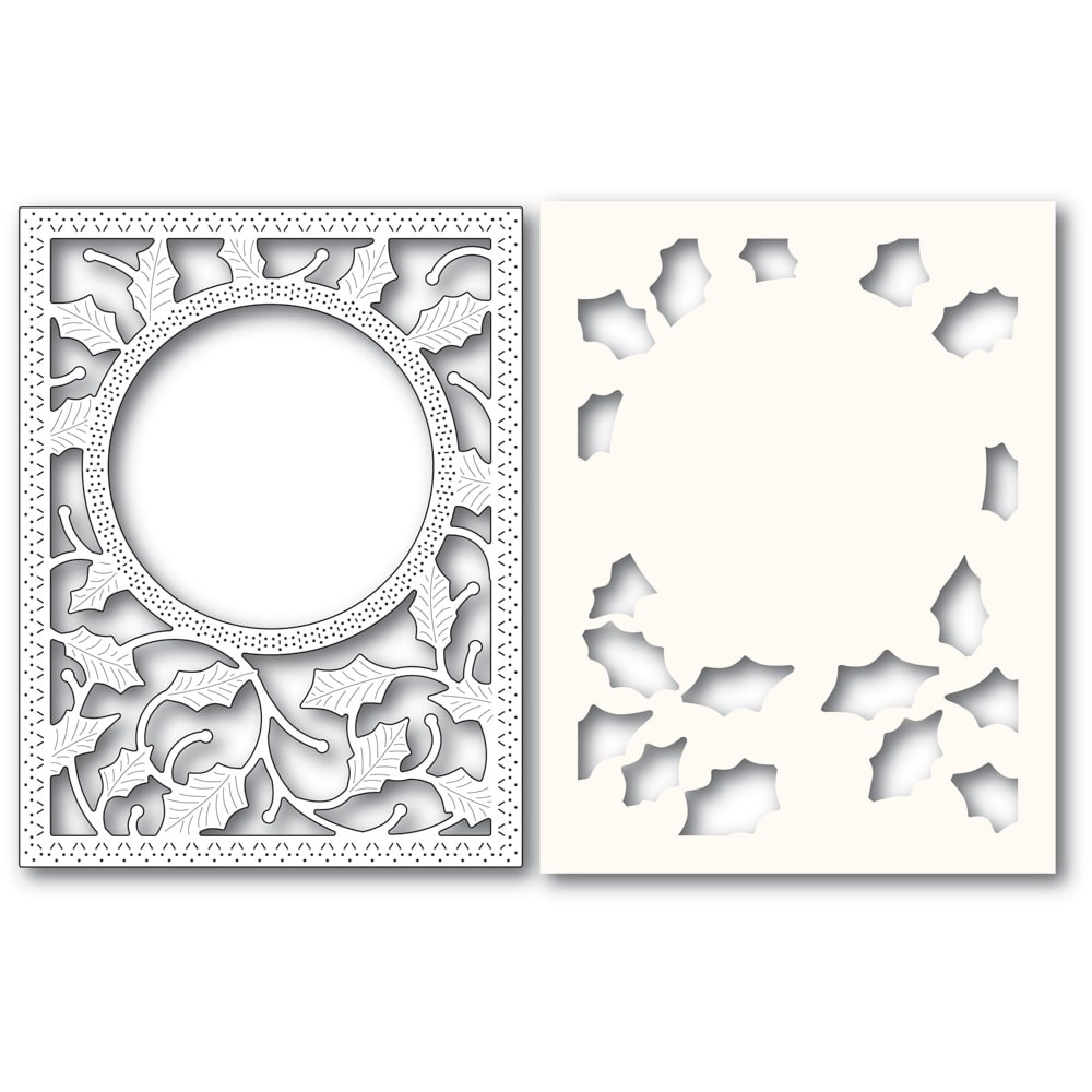 Poppystamps Holly Frame and Stencil 2283