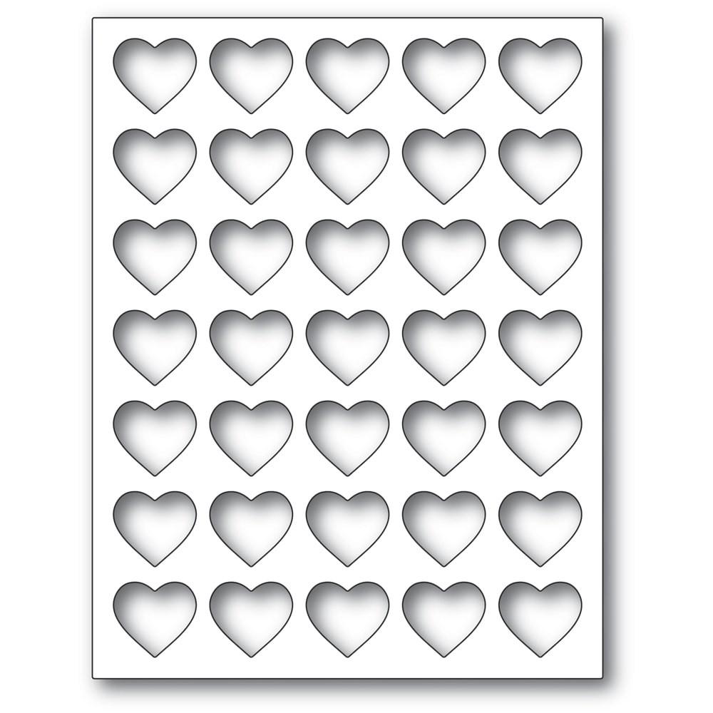 Poppystamps Grid Heart Frame 2284