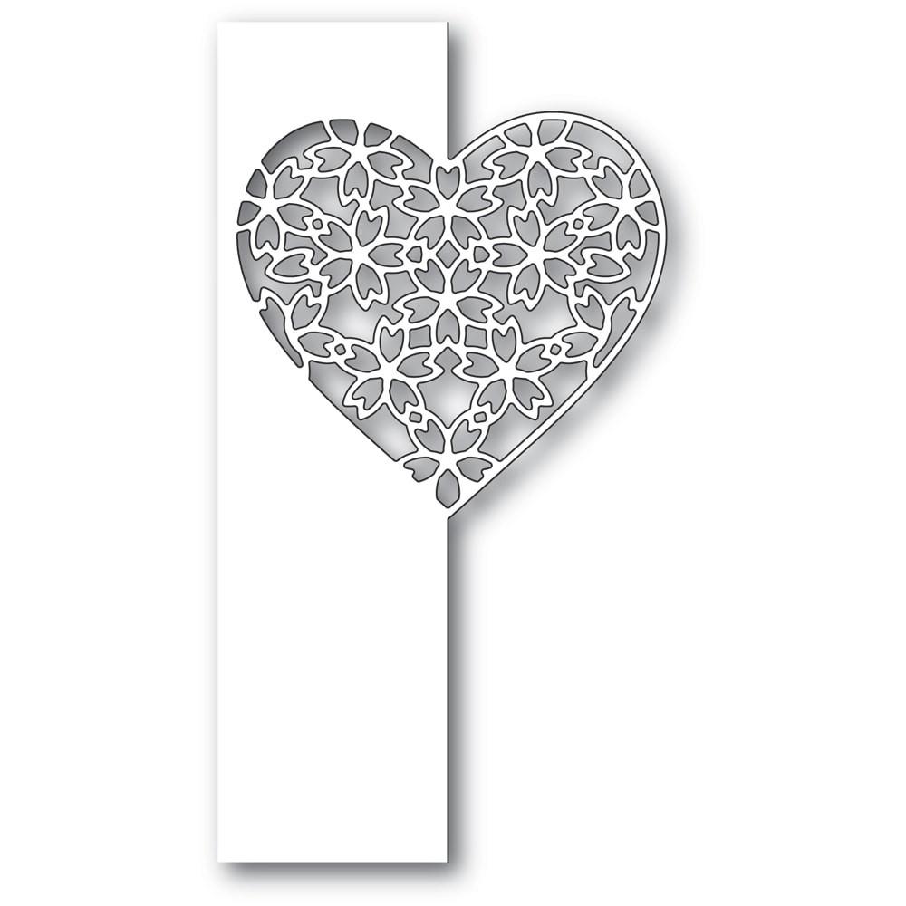 Poppystamps Floral Lace Heart Split Border 2285