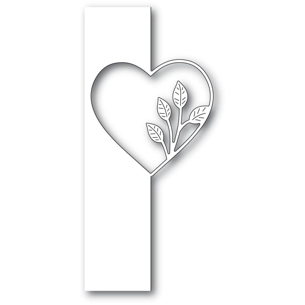 Poppystamps Simple Leaf Heart Split Border 2286