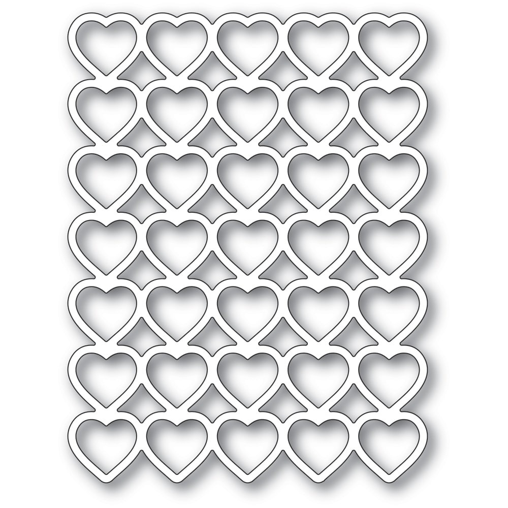 Poppystamps Banded Hearts 2287
